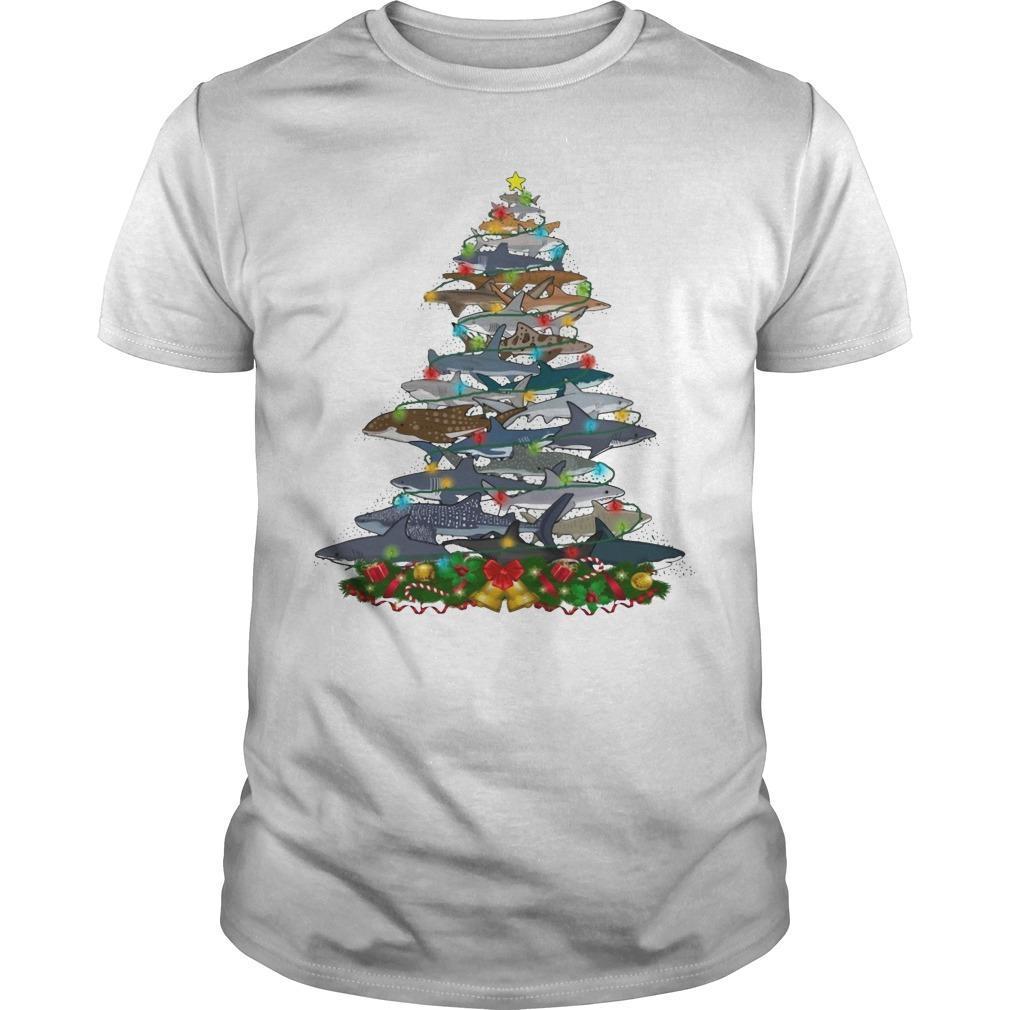 Shark Christmas Tree Shirt