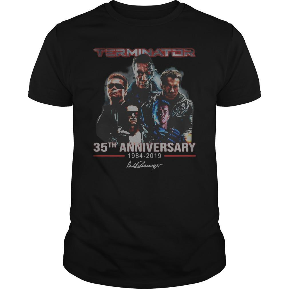Terminator 35th Anniversary 1984 2019 Signature Shirt