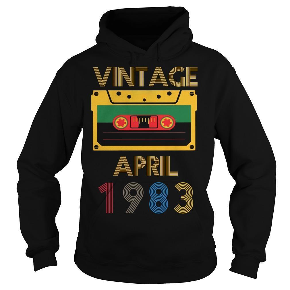 Video Tape Vintage April 1983 Hoodie