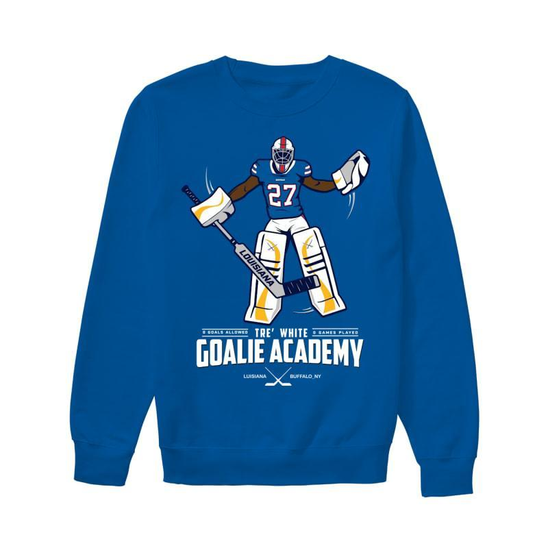 tre white goalie academy shirt Sweater