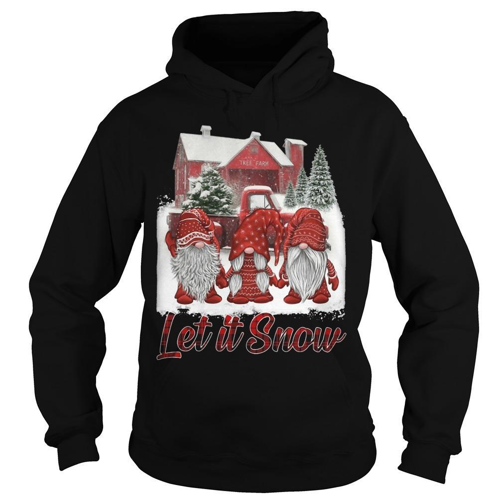 Red Gnomies Let It Snow Hoodie