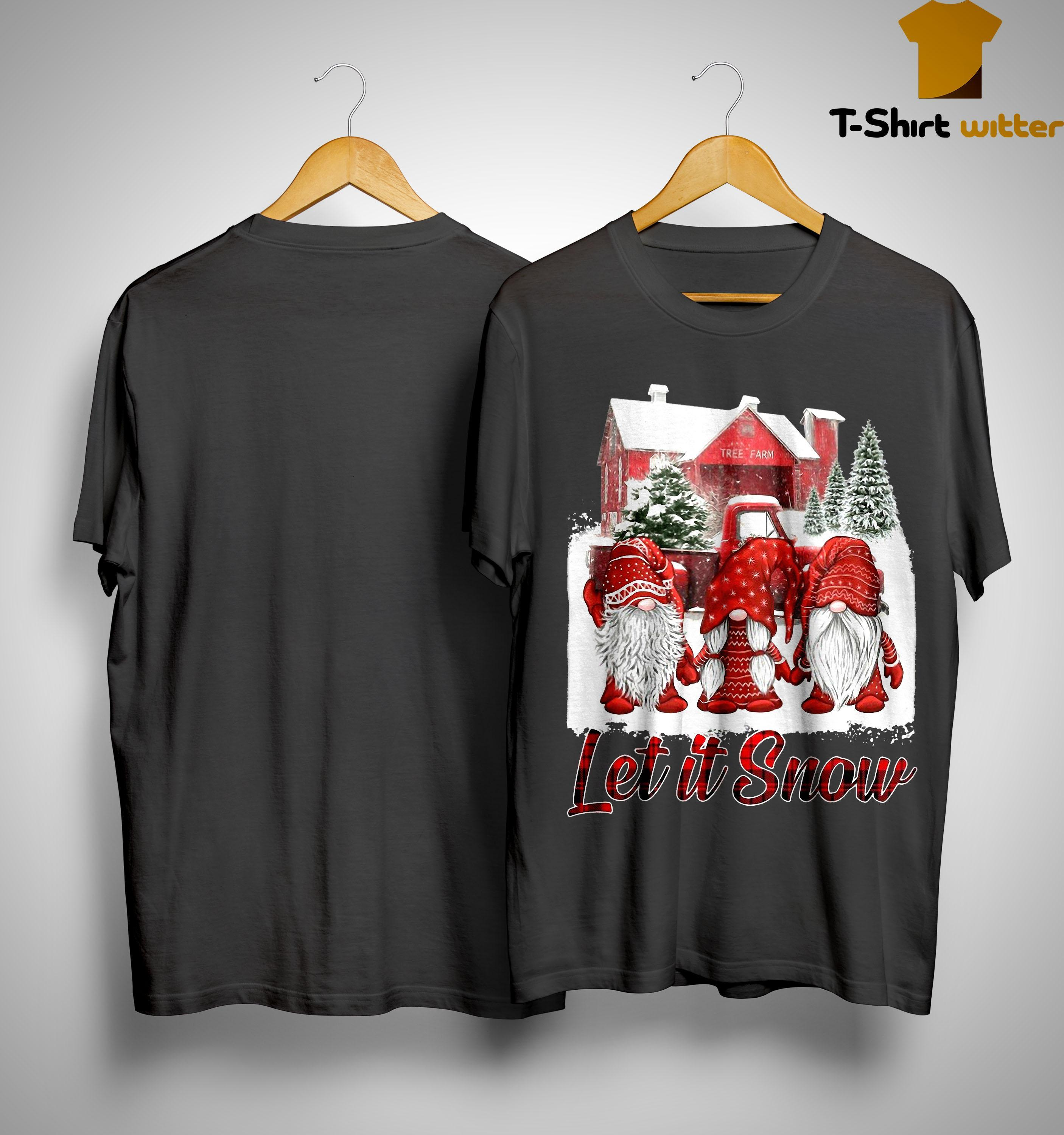 Red Gnomies Let It Snow Shirt