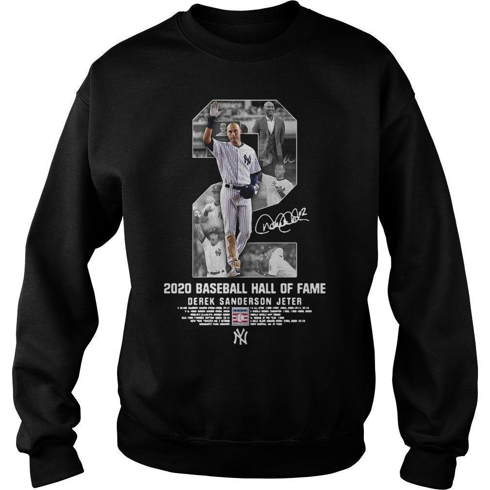 2 2020 Baseball Hall Of Fame Derek Sanderson Jeter Sweater
