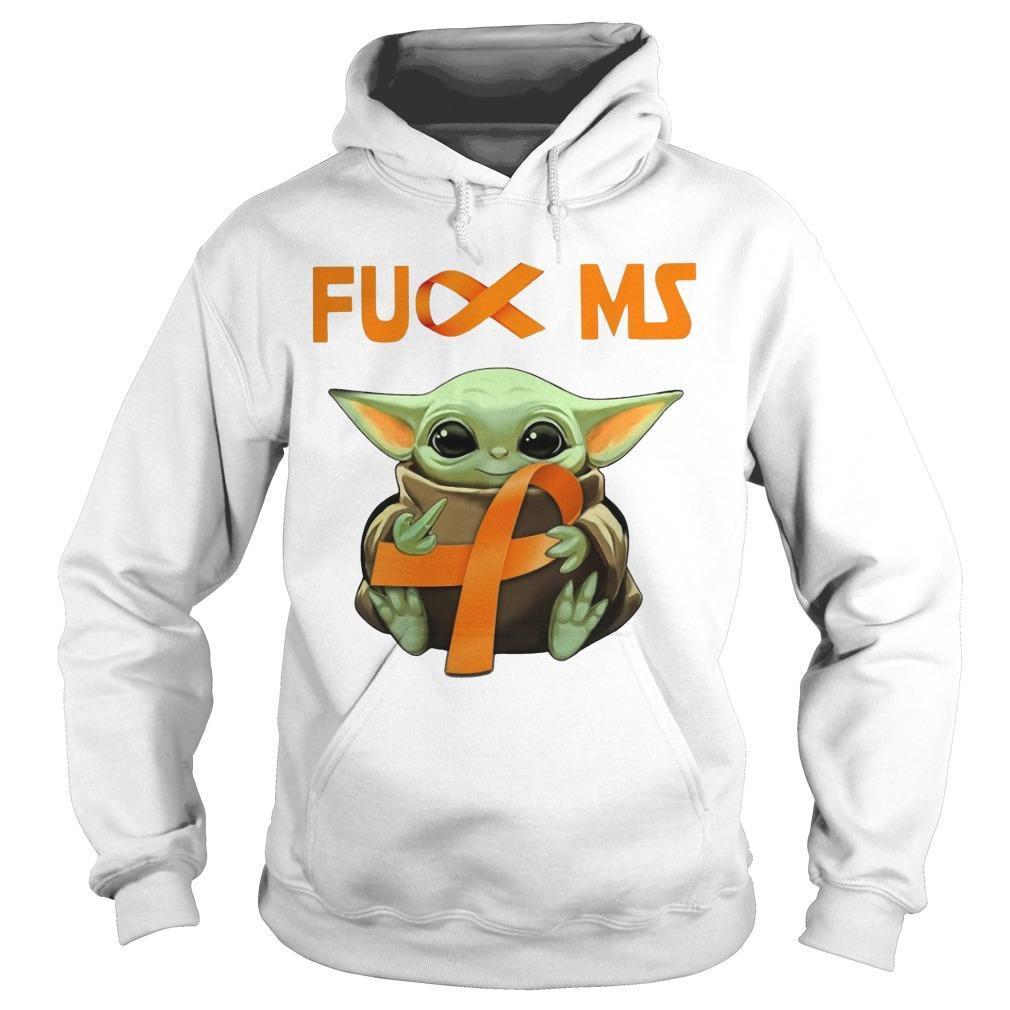 Baby Yoda Fuck Ms Multiple Sclerosis Hoodie