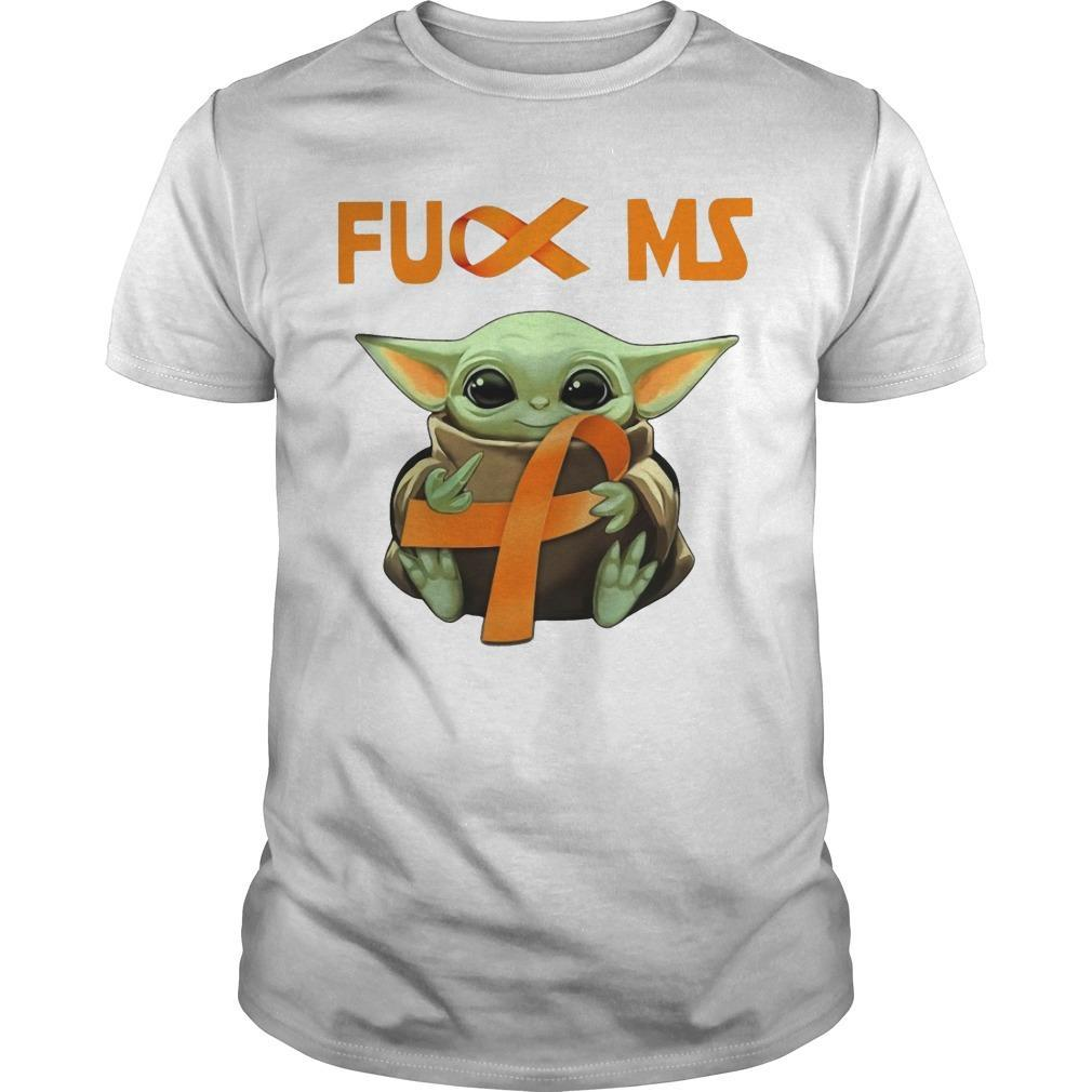 Baby Yoda Fuck Ms Multiple Sclerosis Shirt