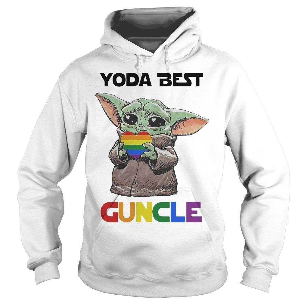 Lgbt Baby Yoda Best Guncle Hoodie