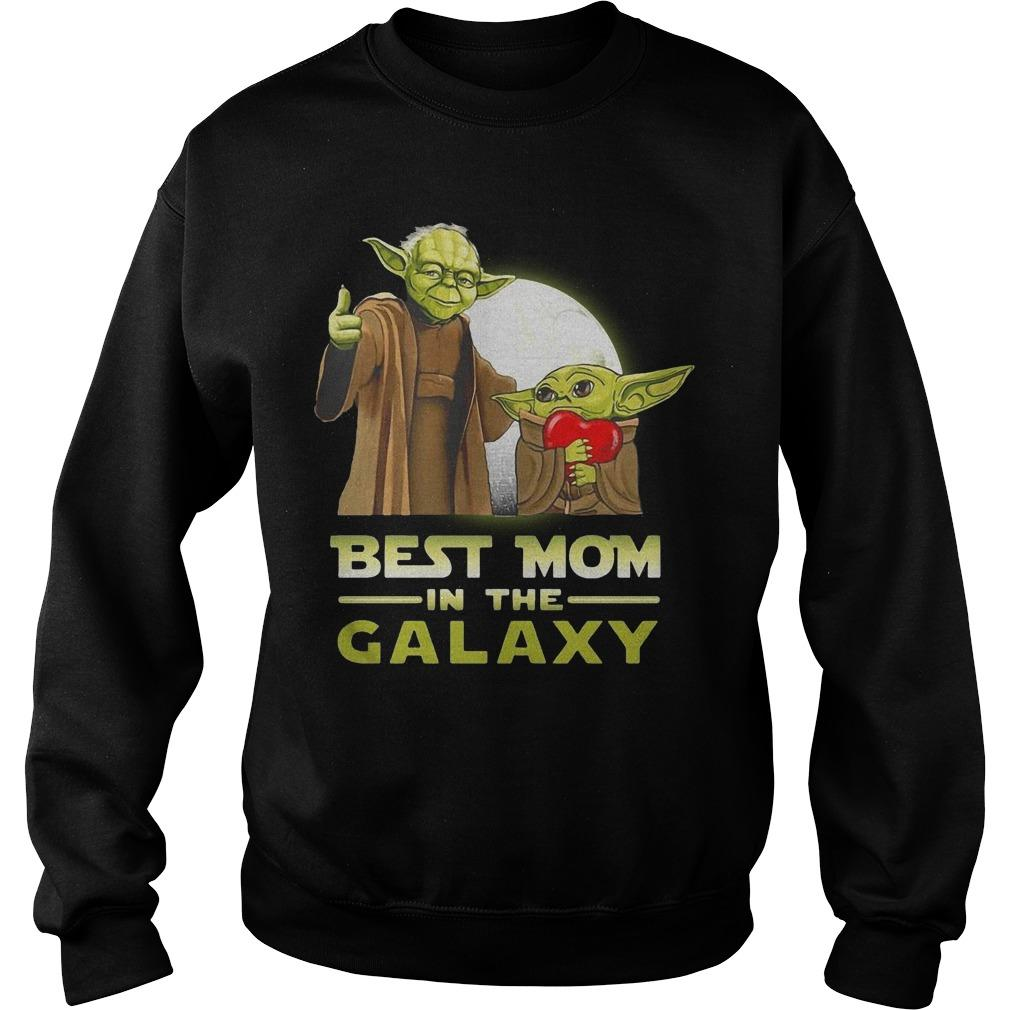 Master Yoda And Baby Yoda Best Mom In The Galaxy Sweater