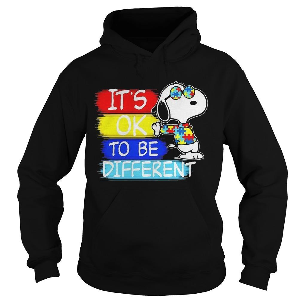 Snoopy Autism Awareness It's Ok To Be Different Hoodie