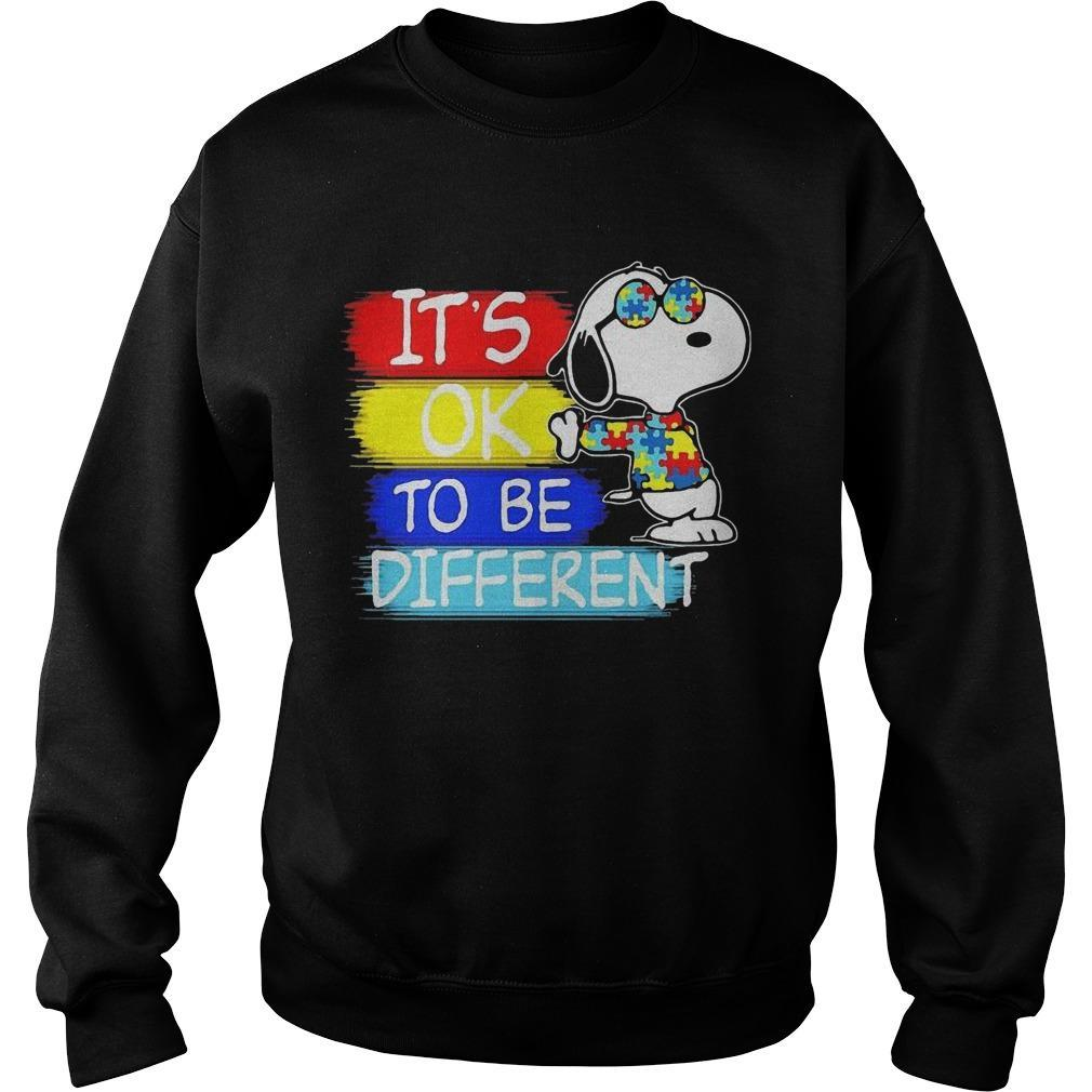 Snoopy Autism Awareness It's Ok To Be Different Sweater
