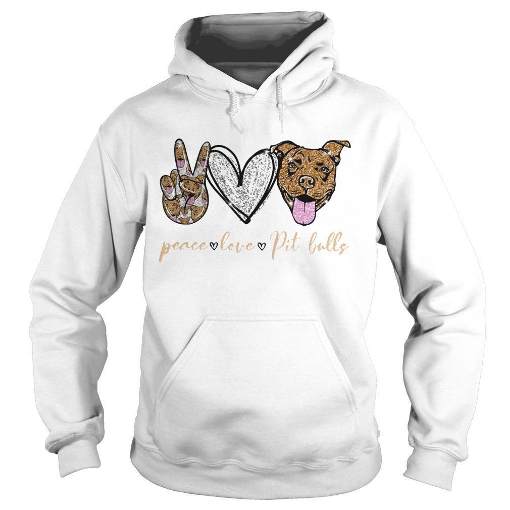 Peace Love Pit Bulls Hoodie