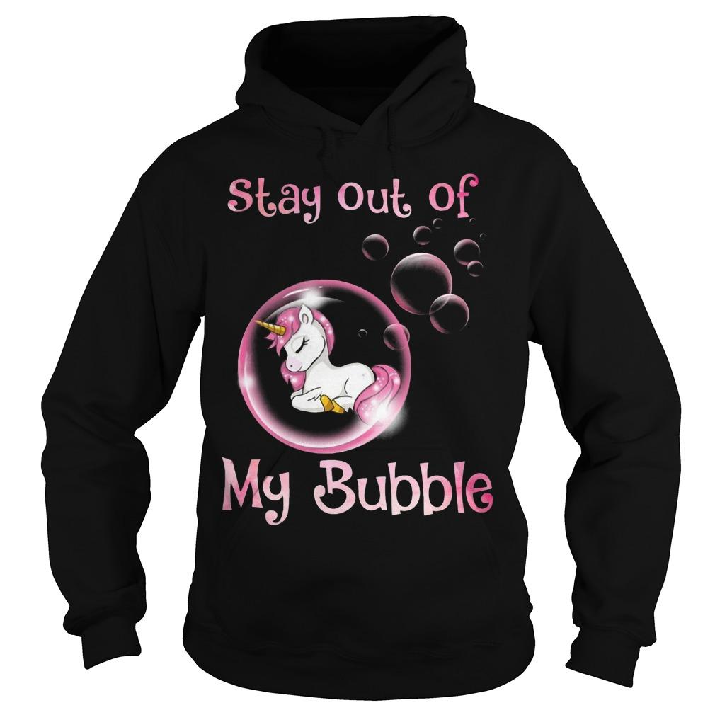 Pink Unicorn Stay Out Of My Bubble Hoodie