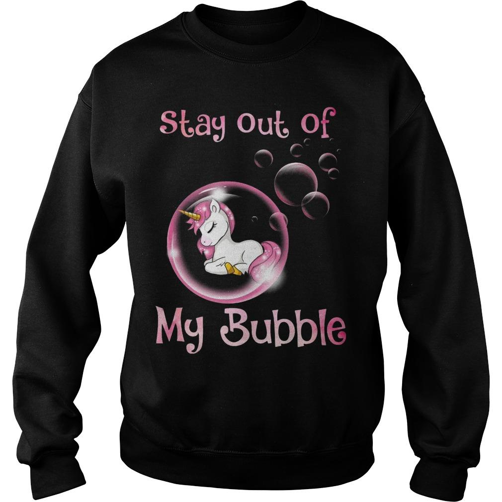 Pink Unicorn Stay Out Of My Bubble Sweater