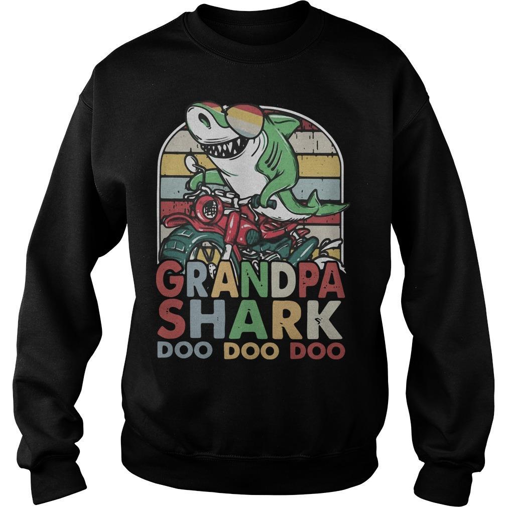 Vintage Biker Grandfather Shark Doo Doo Doo Sweater