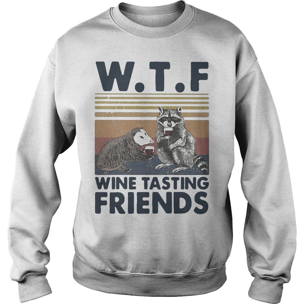 Vintage Trash Animal Wtf Wine Tasting Friends Sweater