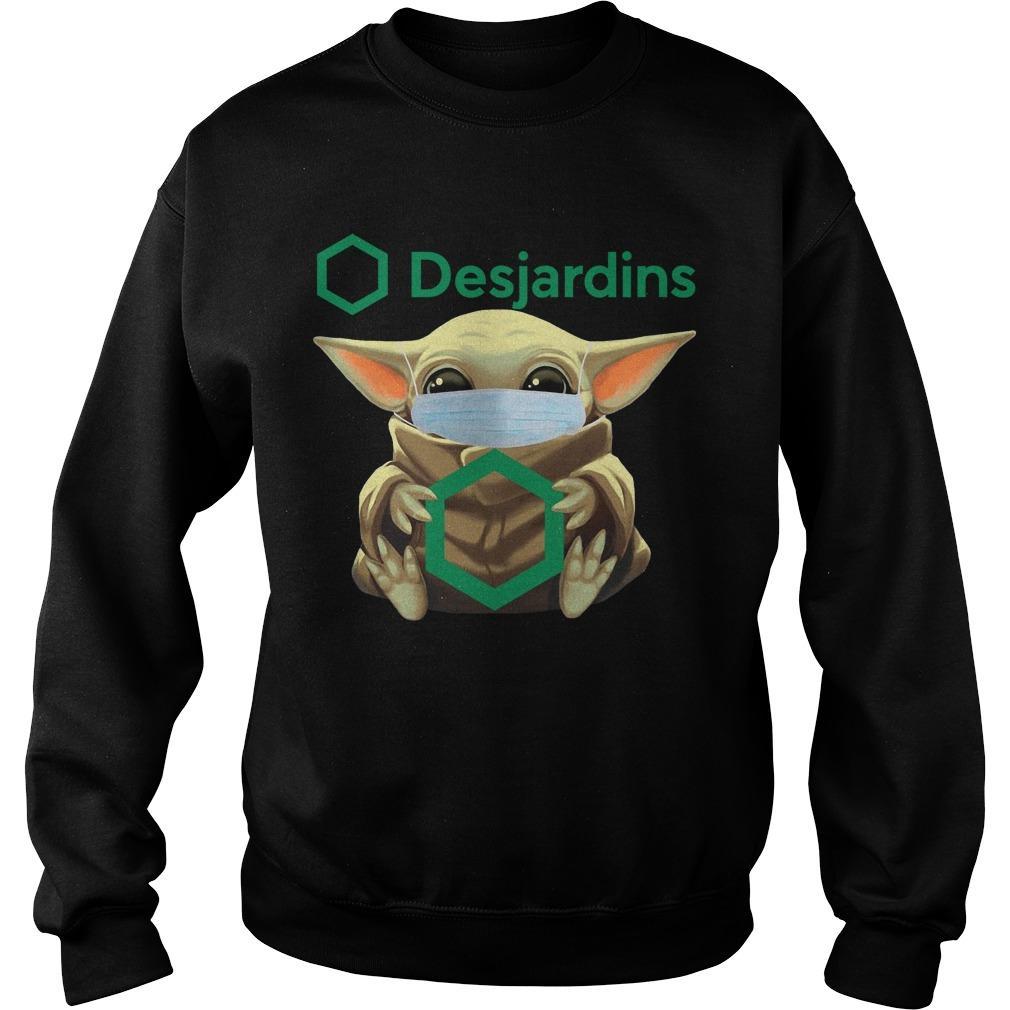 Baby Yoda Mask Hugging Desjardins Sweater