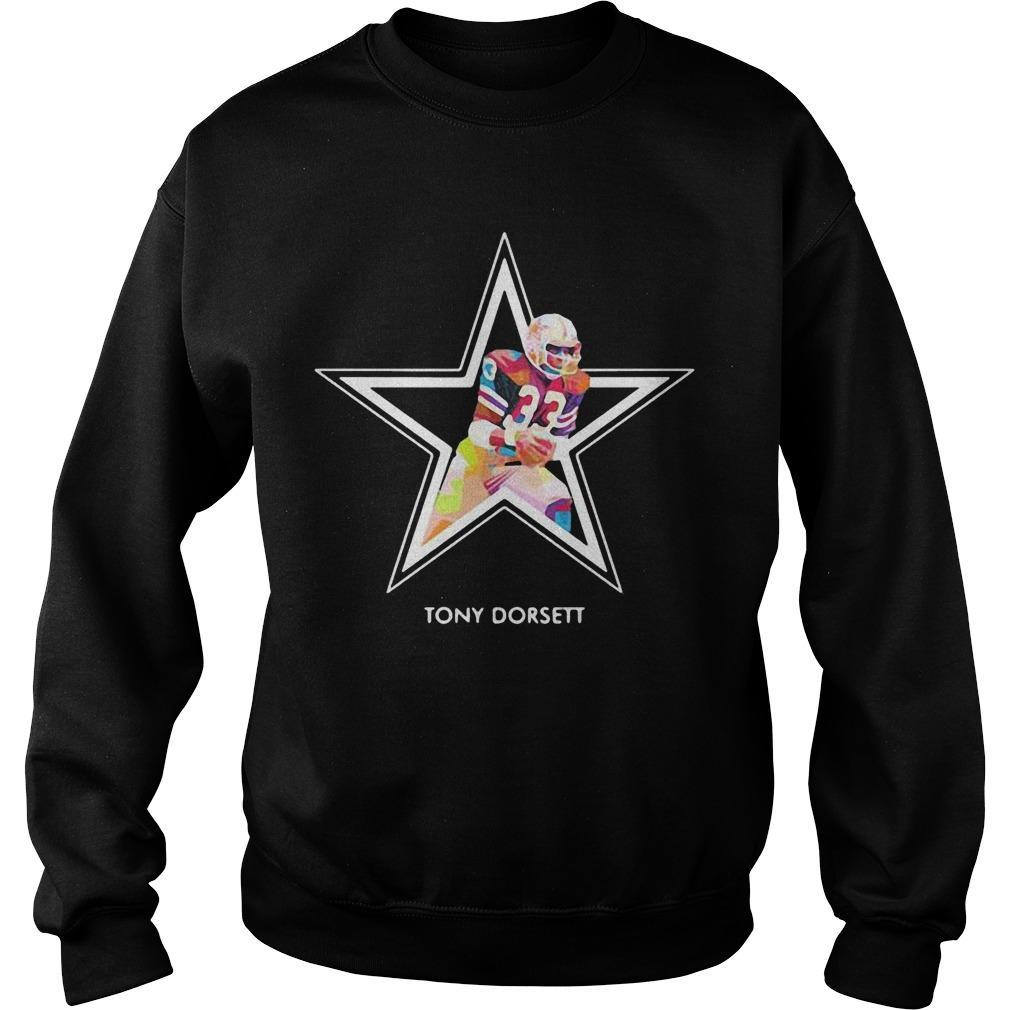 Dallas Cowboys Football Art Tony Dorsett Sweater