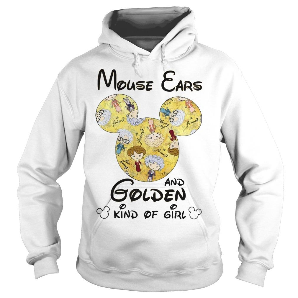 Mouse Ears And Golden Kind Of Girl Hoodie
