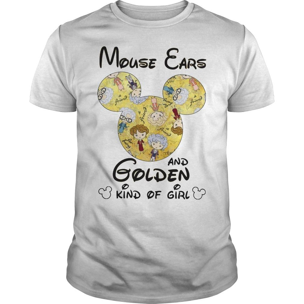 Mouse Ears And Golden Kind Of Girl Shirt