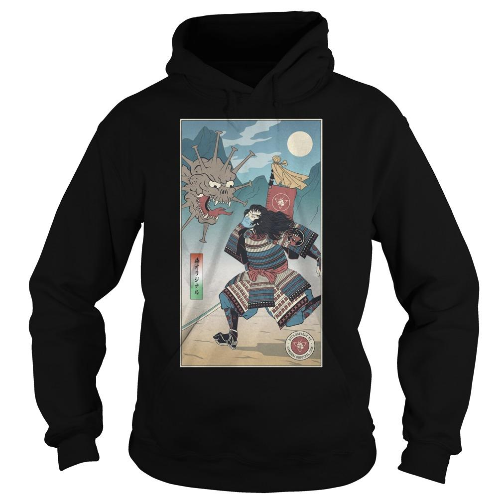 Samurai Vs Virus Demon No 3 Hoodie