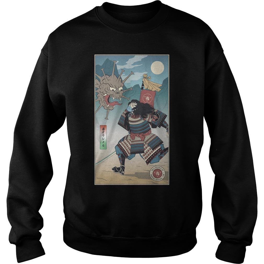 Samurai Vs Virus Demon No 3 Sweater