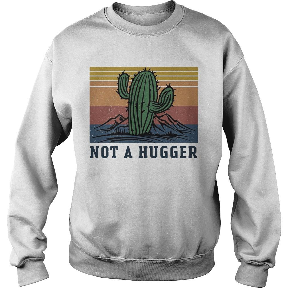Vintage Cactus Not A Hugger Sweater