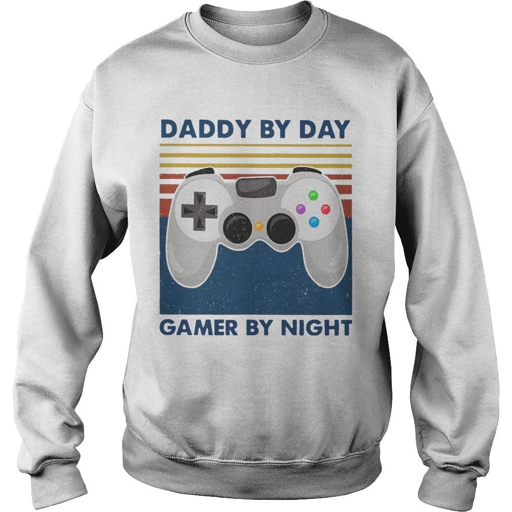 Vintage Daddy By Day Gamers By Night Sweater