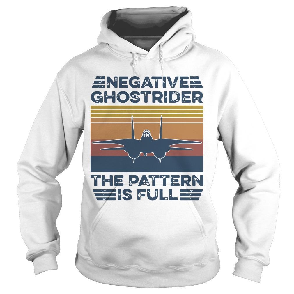 Vintage Negative Ghostrider The Pattern Is Full Hoodie