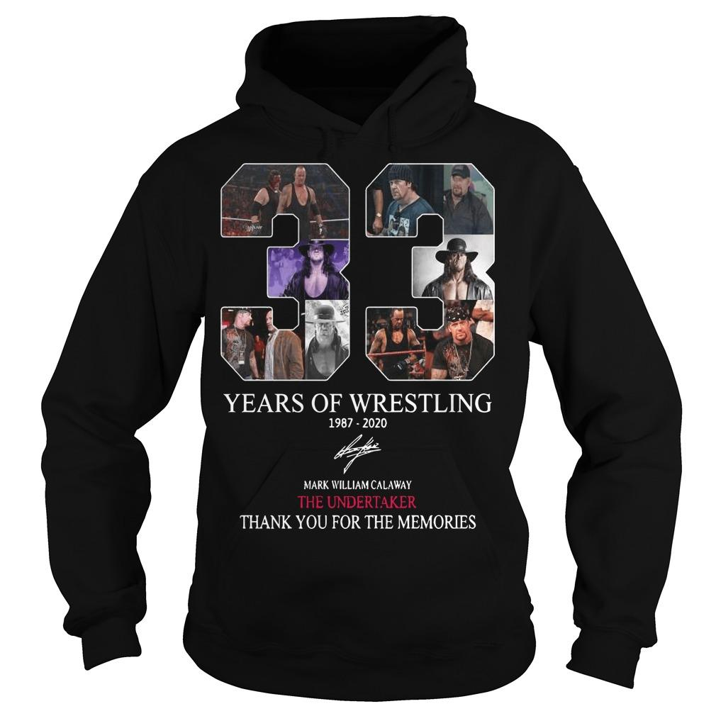 33 Years Of Wrestling 1987 2020 Thank You For The Memories Hoodie