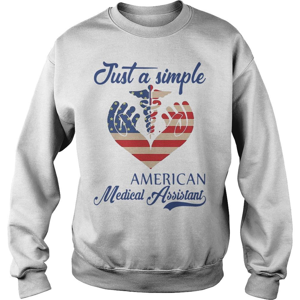 Just A Simple American Medical Assistant Sweater
