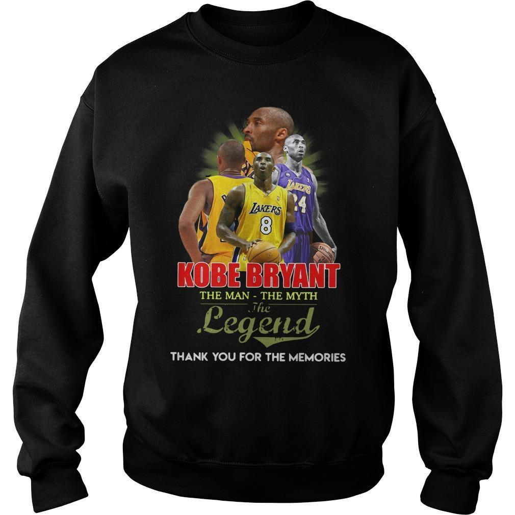 Kobe Bryant The Man The Myth The Legend Thank You For The Memories Sweater