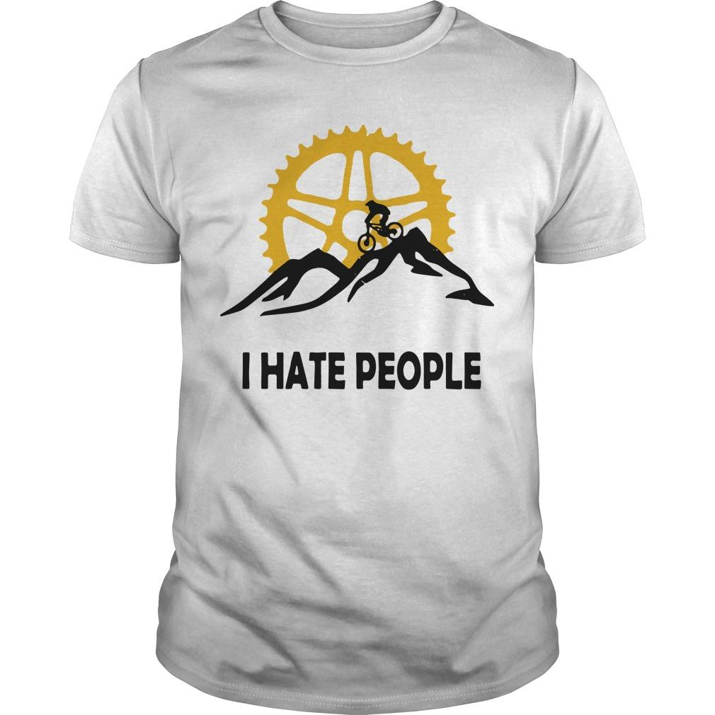 Mountain Biking I Hate People Shirt
