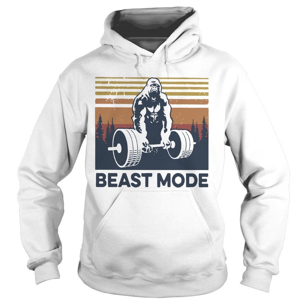 Vintage Bigfoot Gym Beast Mode Hoodie