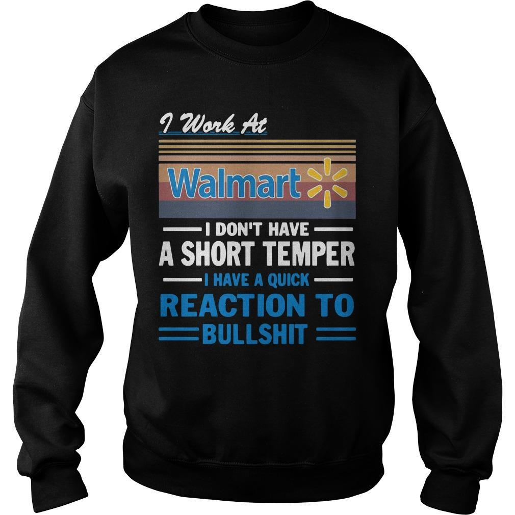 Vintage I Work At Walmart I Don't Have A Short Temper Sweater