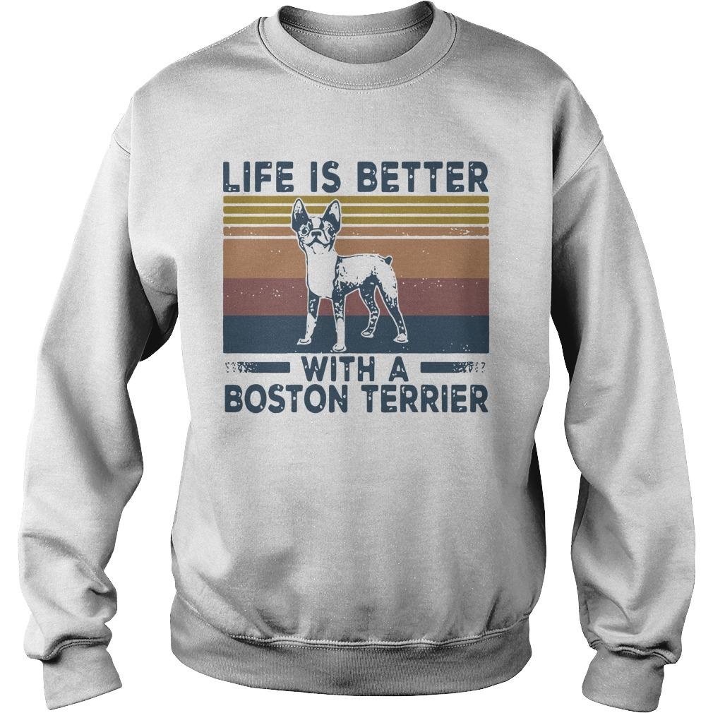 Vintage Life Is Better With A Boston Terrier Sweater