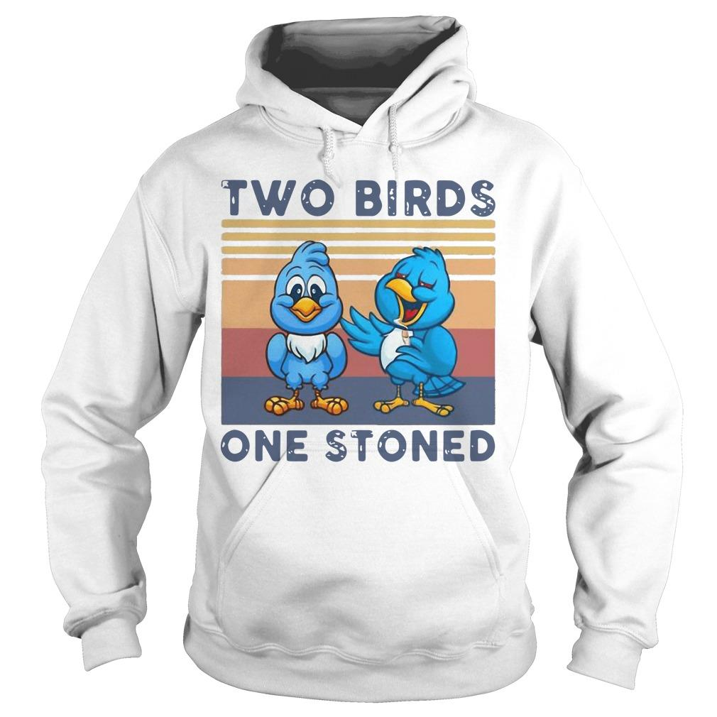 Vintage Two Birds One Stoned Hoodie
