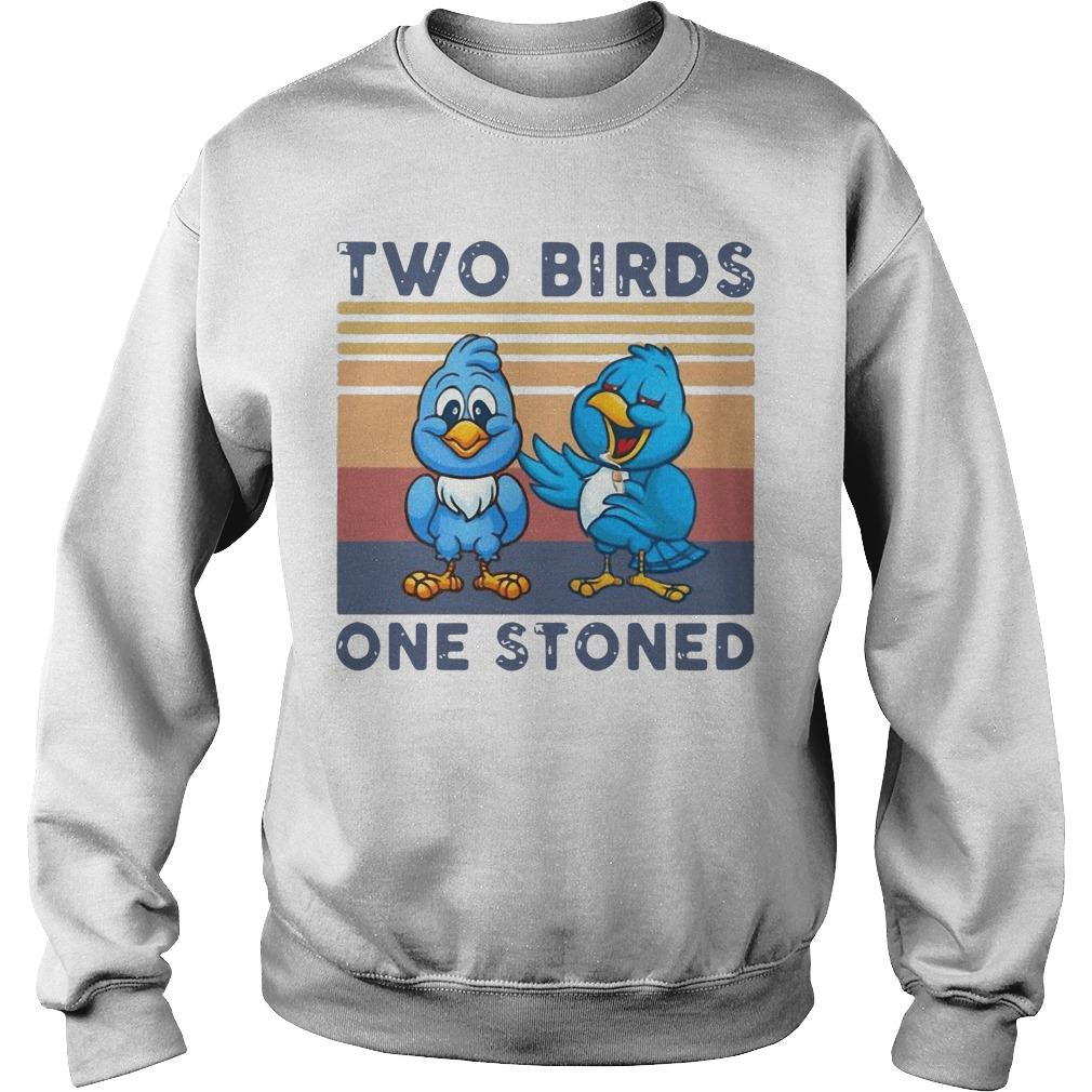 Vintage Two Birds One Stoned Sweater