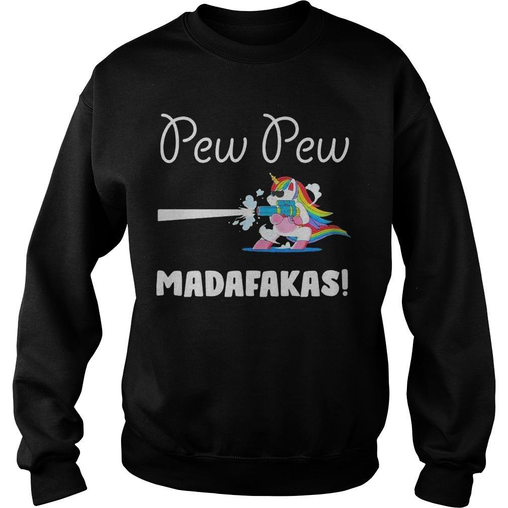 Baby Unicorn Pew Pew Madafakas Sweater