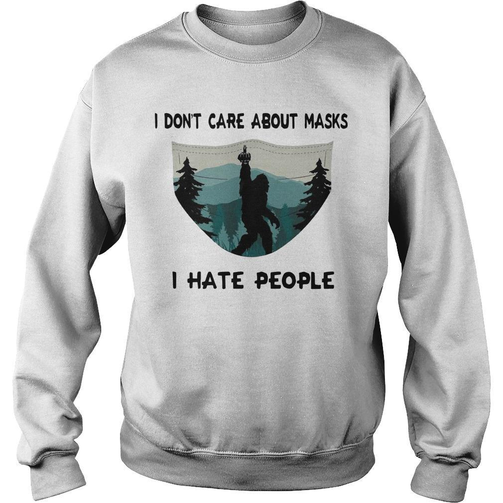 Bigfoot I Don't Care About Masks I Hate People Sweater