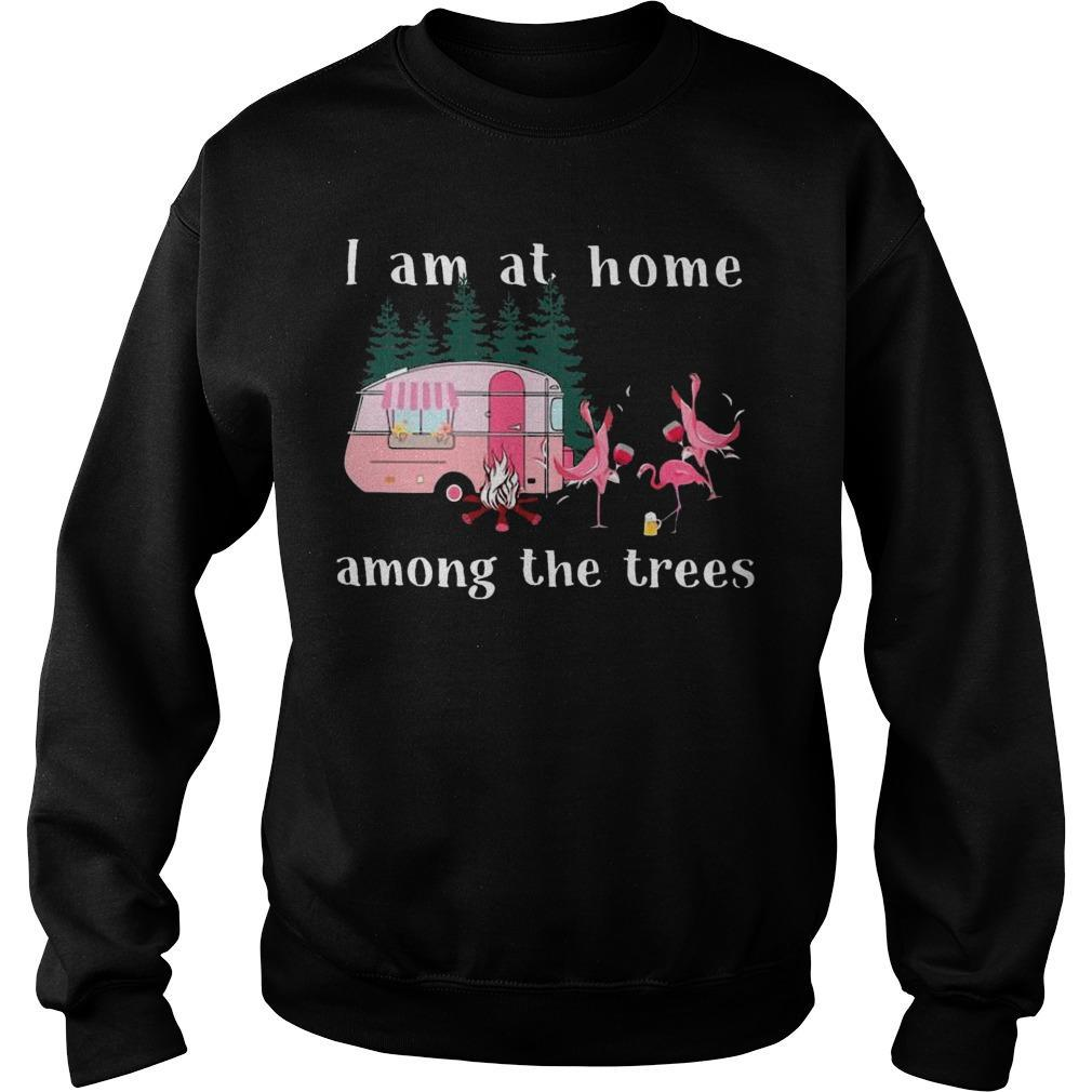 Camping Flamingos I Am At Home Among The Trees Sweater
