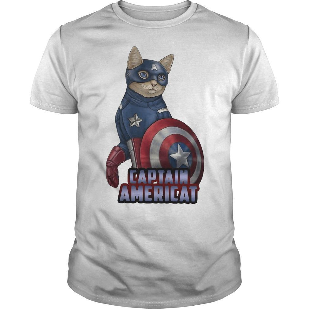 Cat Captain Americat Shirt