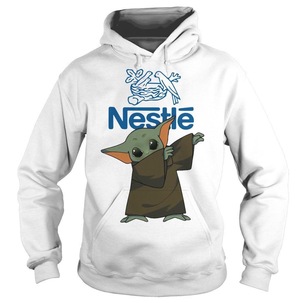 Dabbing Baby Yoda Nestle Hoodie