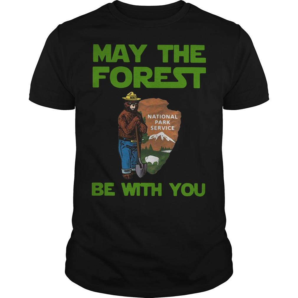 Farmer Bear May The Forest Be With You National Park Service Shirt
