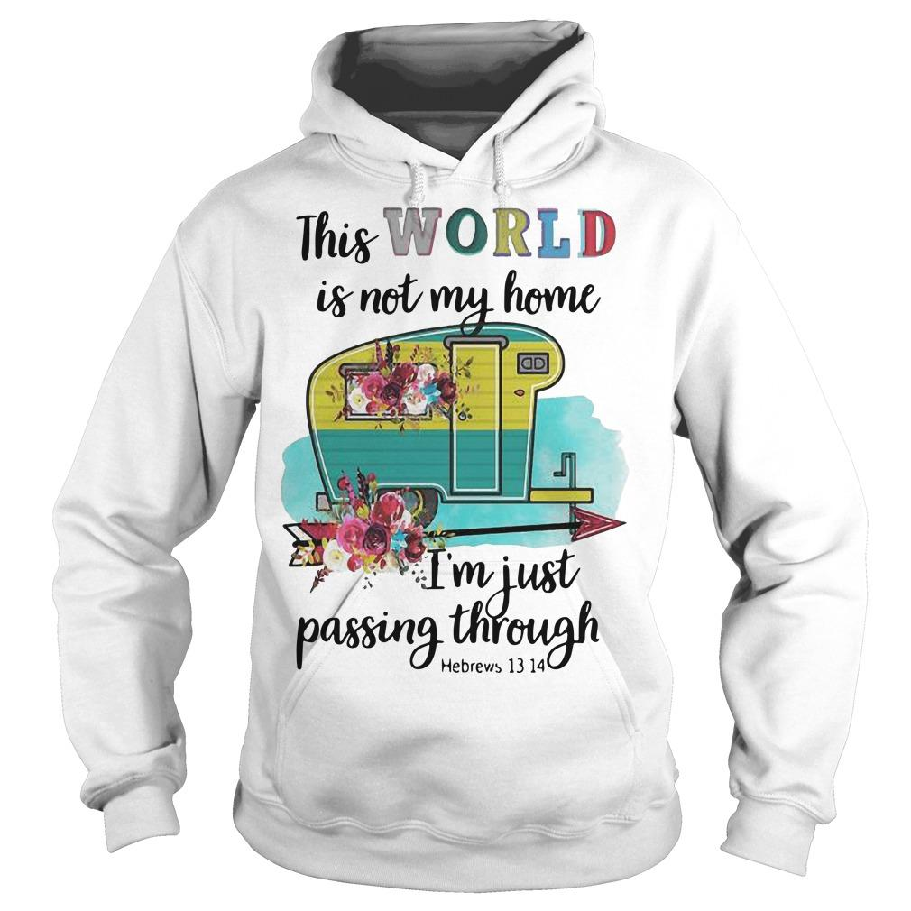 Flower This World Is Not My Home I'm Just Passing Through Hoodie