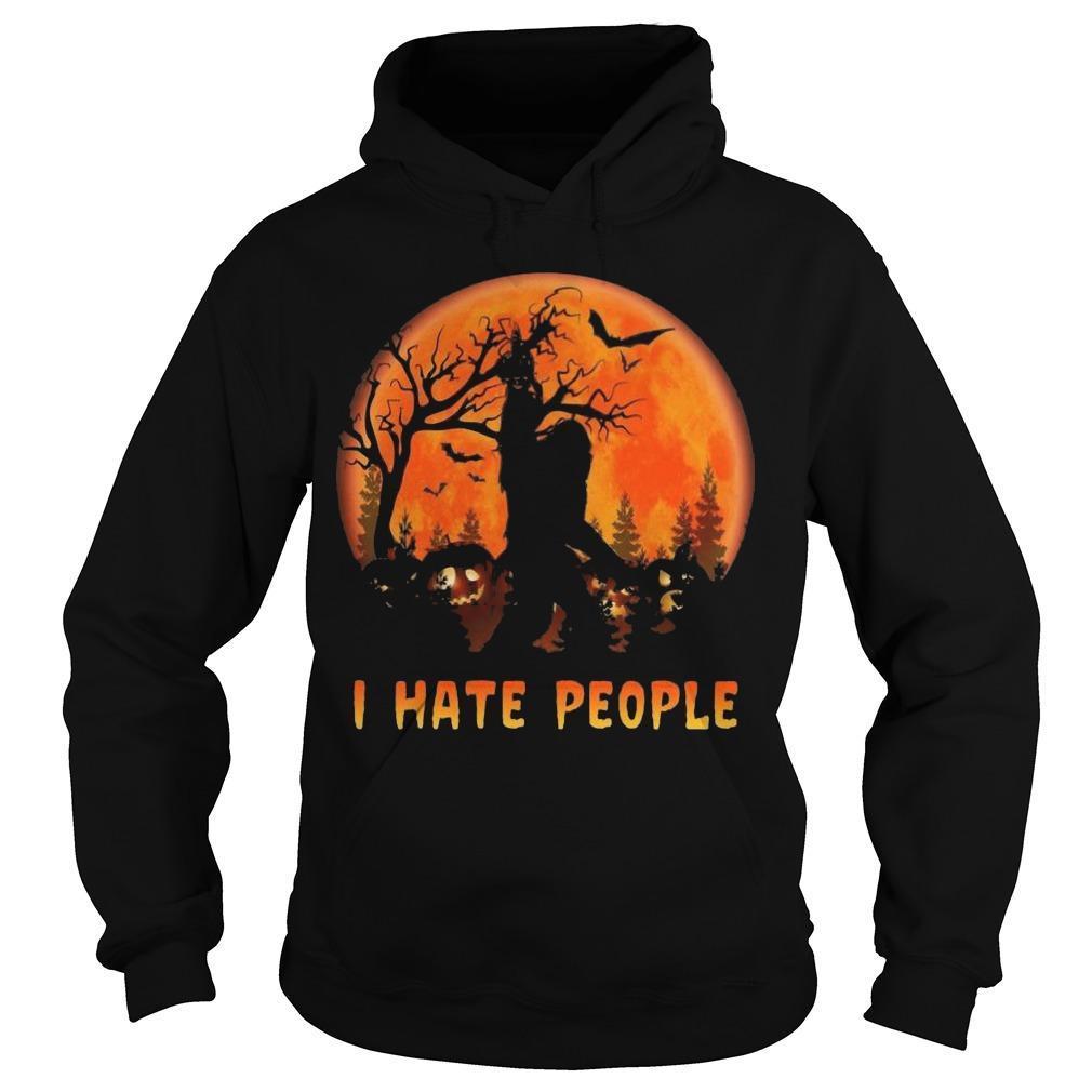 Halloween Bigfoot I Hate People Hoodie