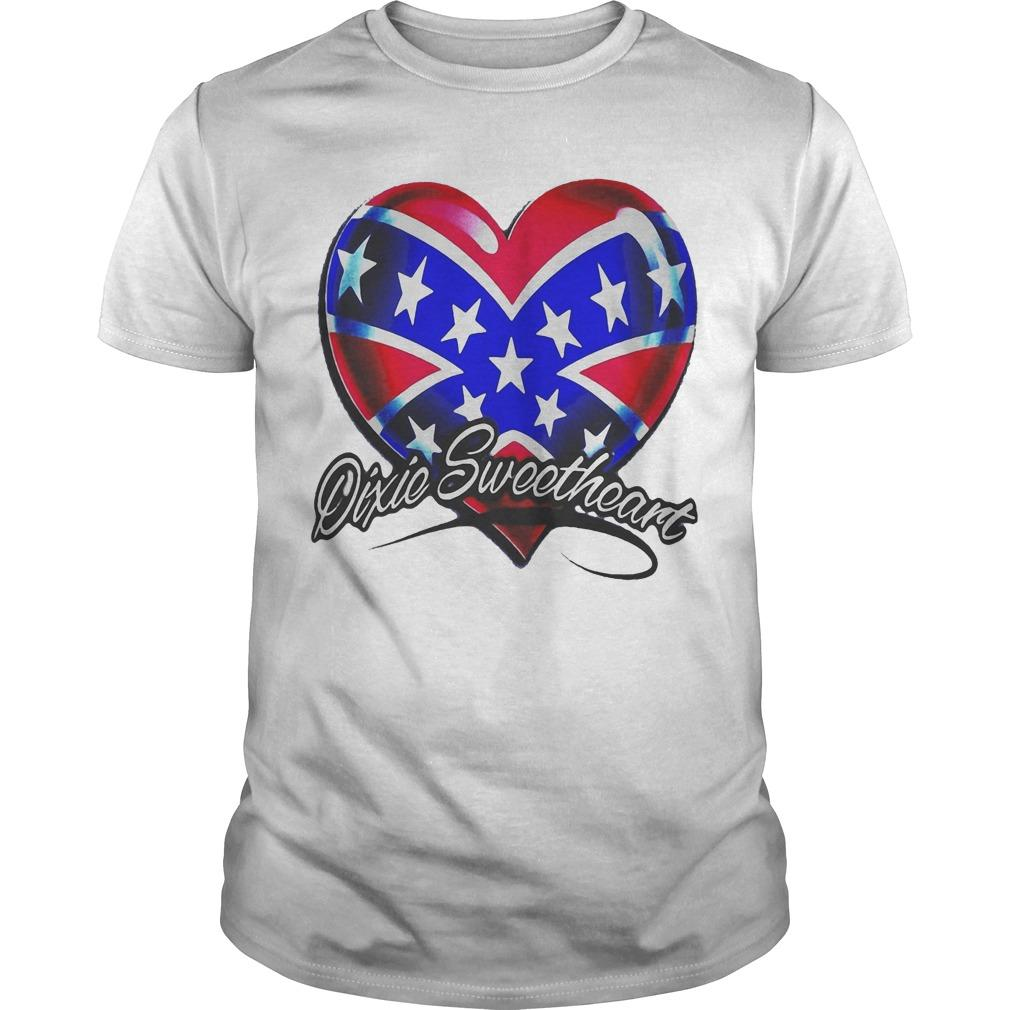 Heart American Happy Independence Day Dixic Sweetheart Shirt