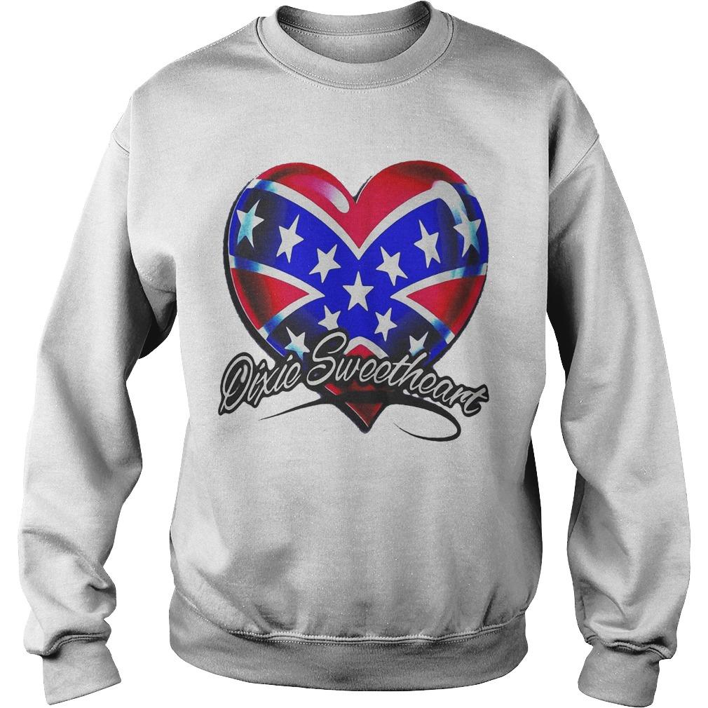 Heart American Happy Independence Day Dixic Sweetheart Sweater