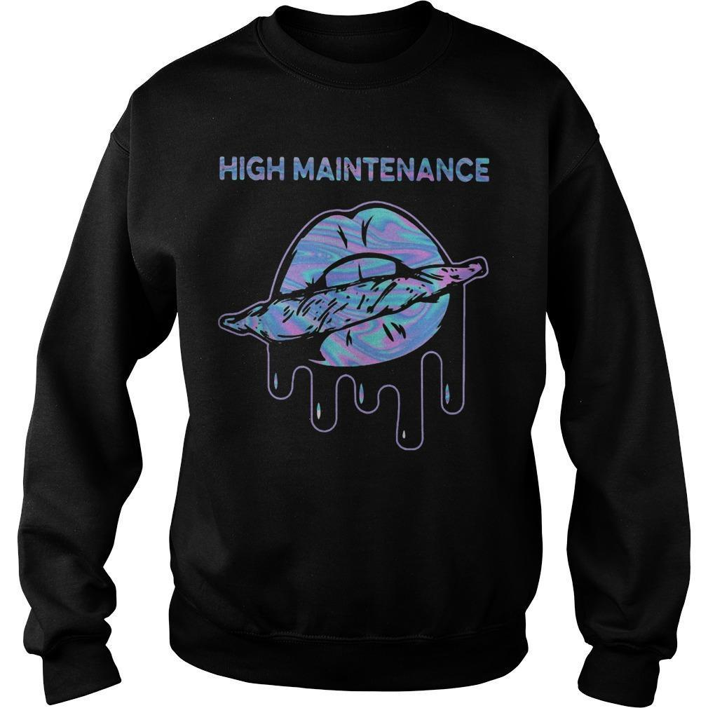 Lips Weed High Maintenance Sweater
