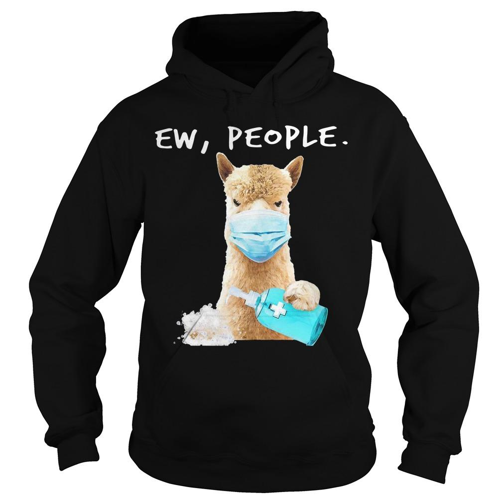 Llama Face Mask Ew People Hoodie