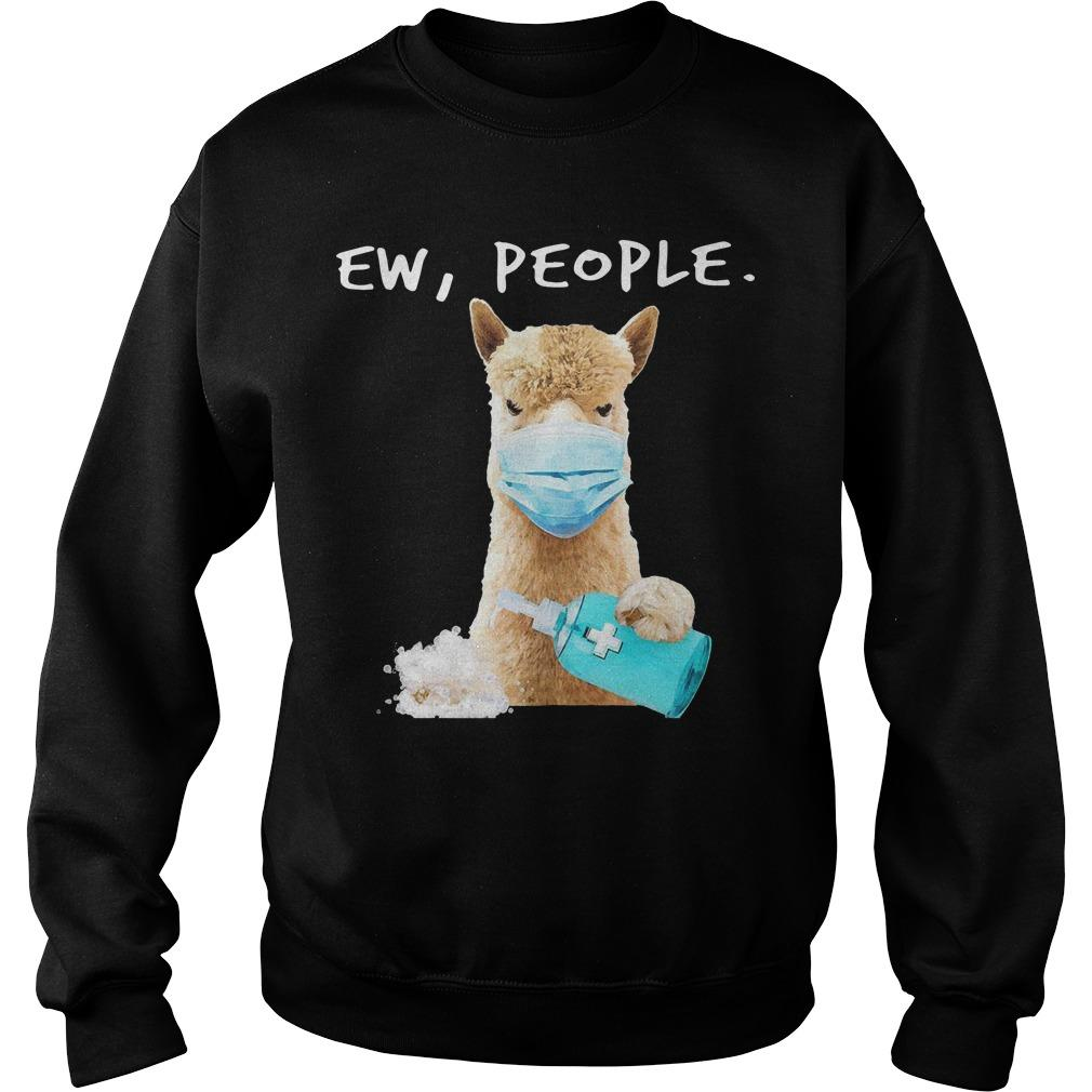 Llama Face Mask Ew People Sweater