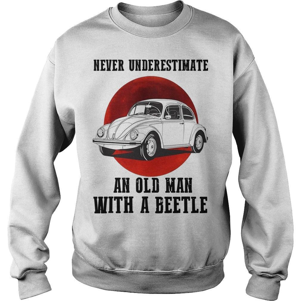 Never Underestimate An Old Man With A Vw Beetle Sweater